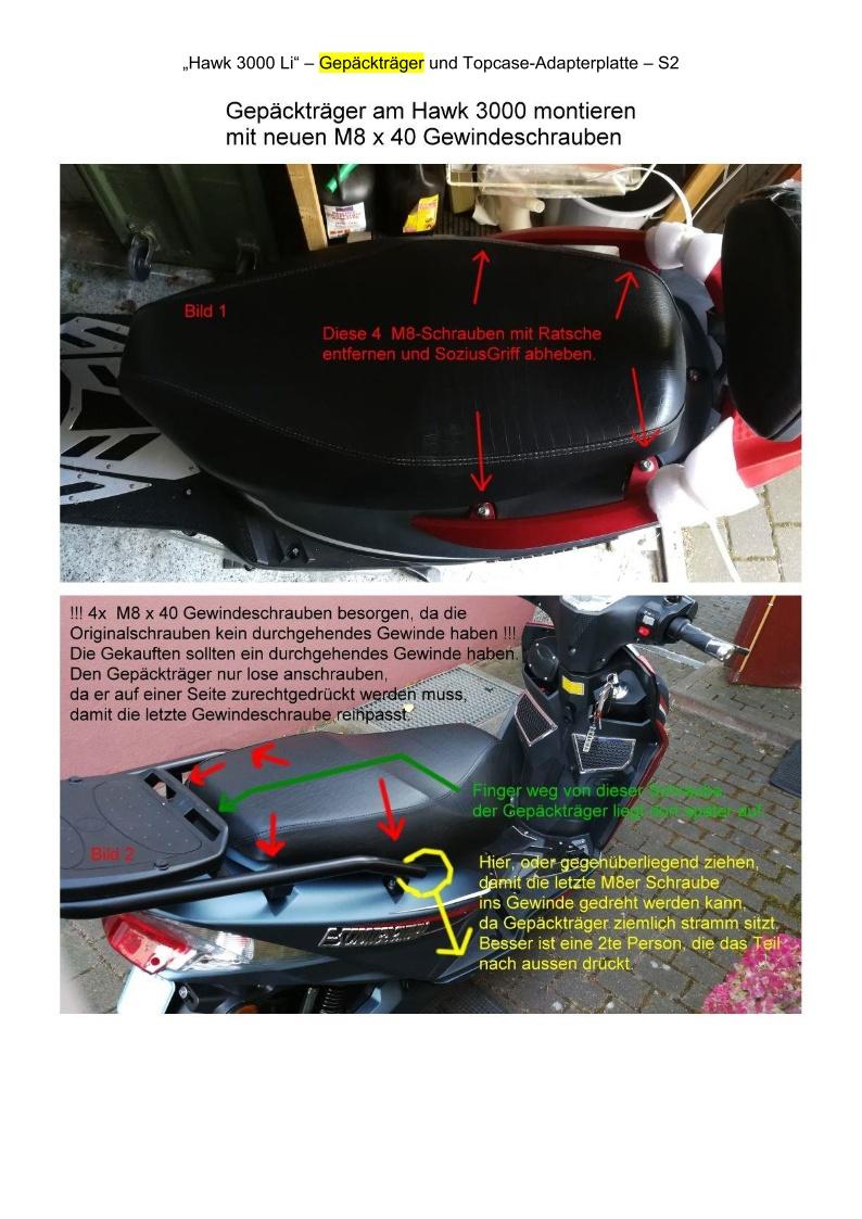 Gepäckträger + Topcase-Adapterplatte