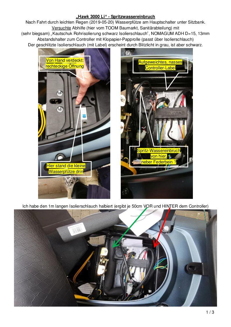 E-Mobilität - Hawk - Spritzwasser-Schutz - S1