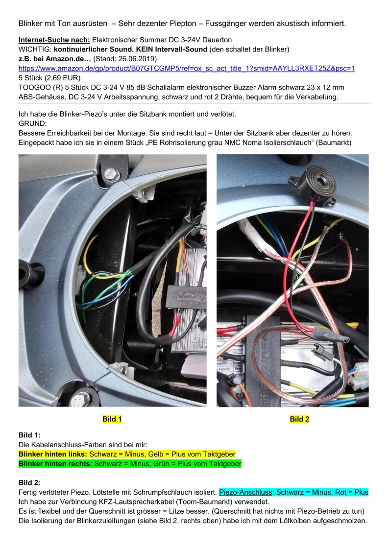 E-Mobilität - Hawk - Blinker-Piezos - S1