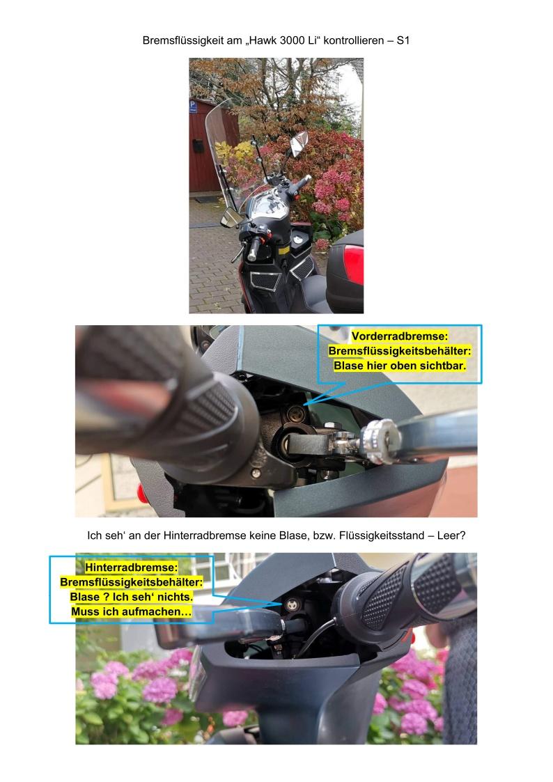 Bremsflüssigkeit kontrollieren - S1