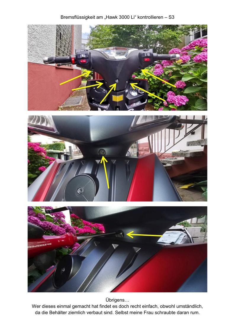 Bremsflüssigkeit kontrollieren - S3
