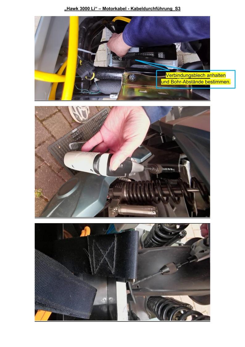 Motorkabel durch Radkasten geführt - S3