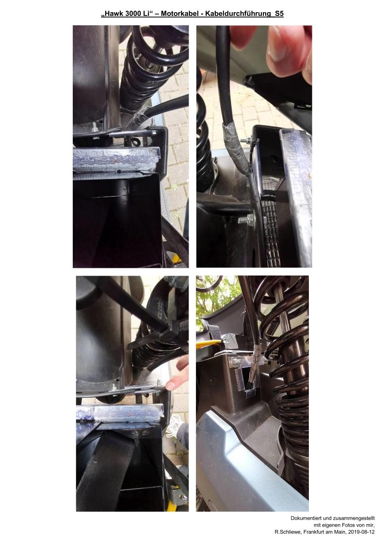 Motorkabel durch Radkasten geführt - S5