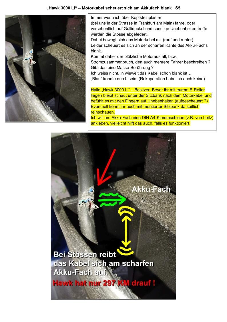 Hawk 3000 Li - Motorkabel scheuert sich am Akkufach blank_S5