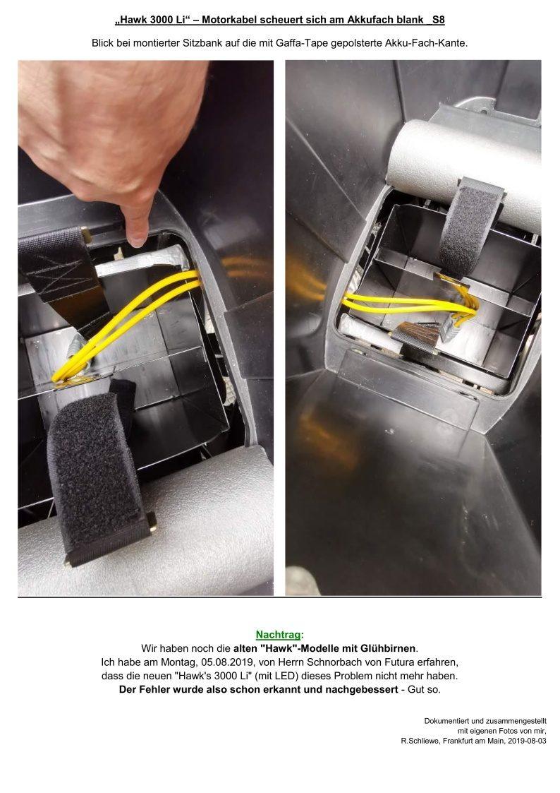 Hawk 3000 Li - Motorkabel scheuert sich am Akkufach blank_S8