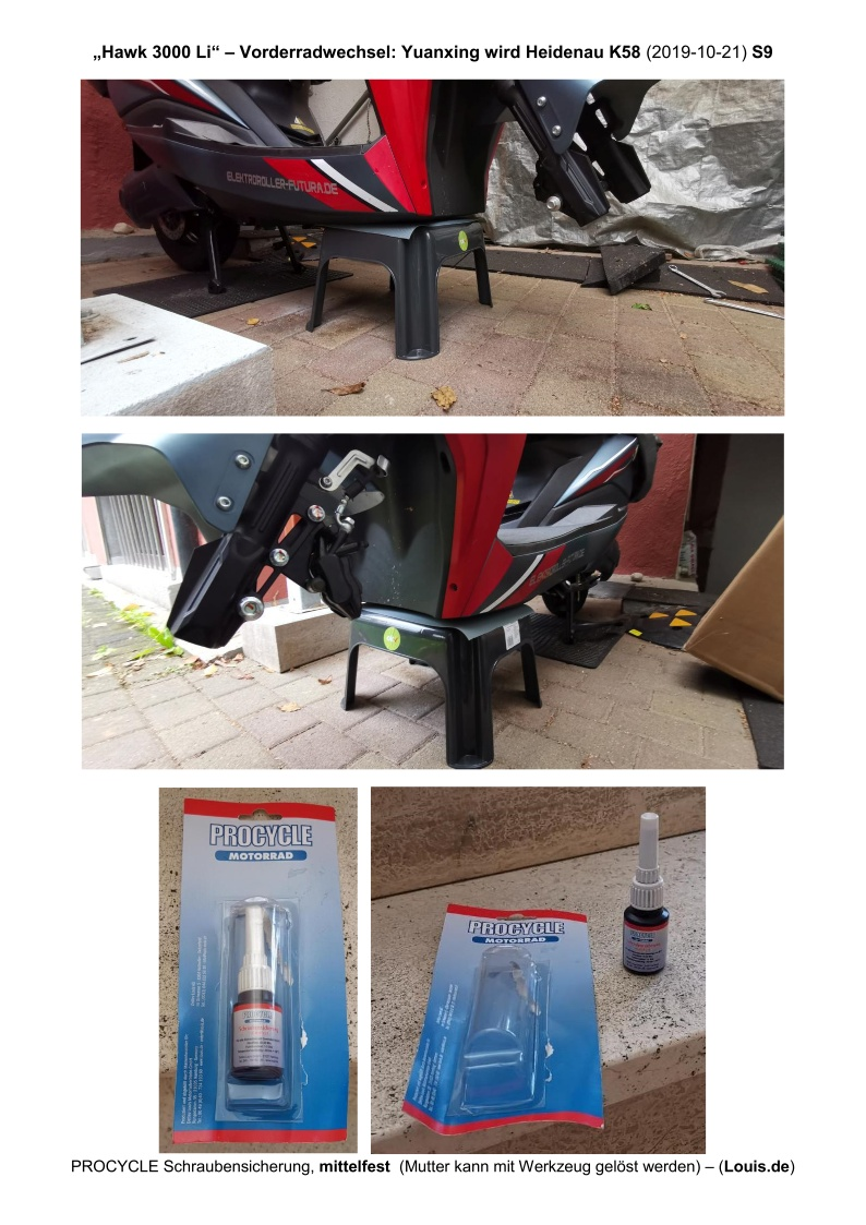 Hawk 3000 Li - Vorderradwechsel - S9