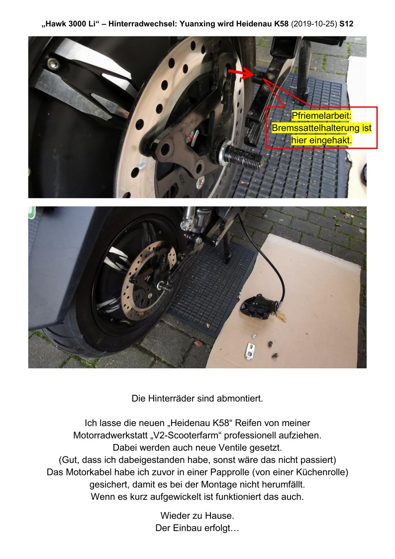 Hawk 3000 Li - Hinterradwechsel - S12